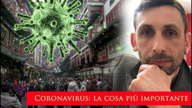 Coronavirus: la cosa più importante